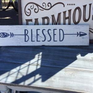 Blessed Arrow Graphic Rustic Farmhouse Sign for Sale
