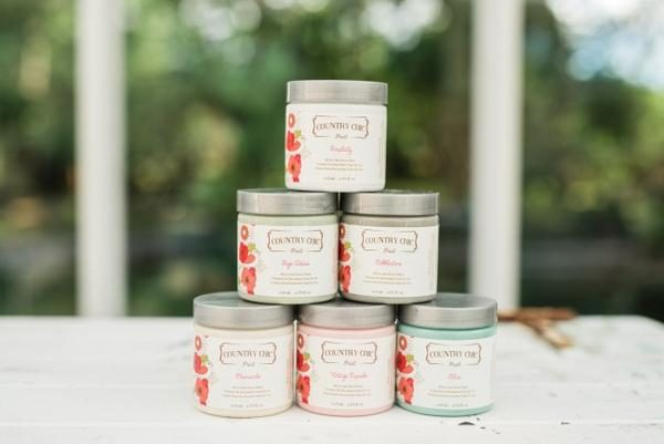 Four Ounce Cans of Country Chic Paint